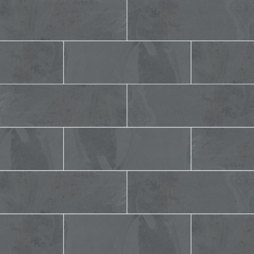 Mont Adoni Nero Slate Gauged Subway Wall Tile 4 x 12 in