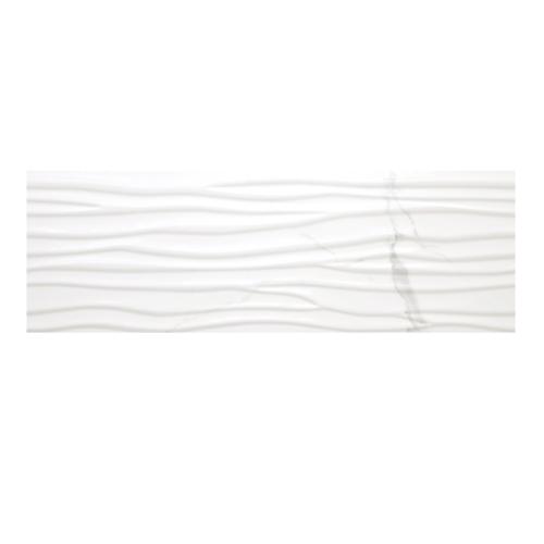 Statuario 12x 36 Wave Wall Tile Matte