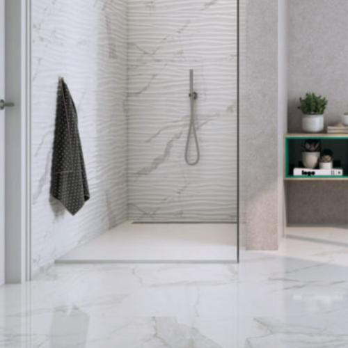 Statuario Wave Wall Tile Matte Porcelain