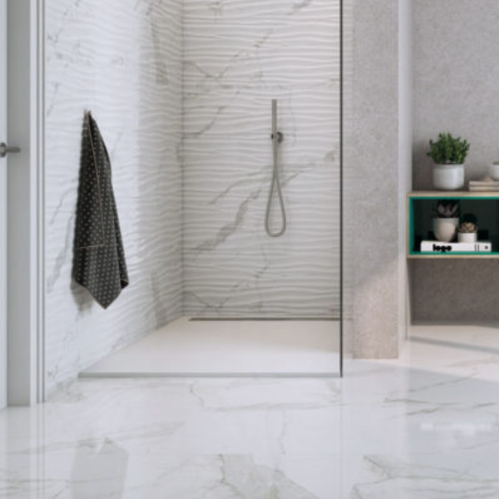 Statuario Wave Wall Tile Matte Porcelain