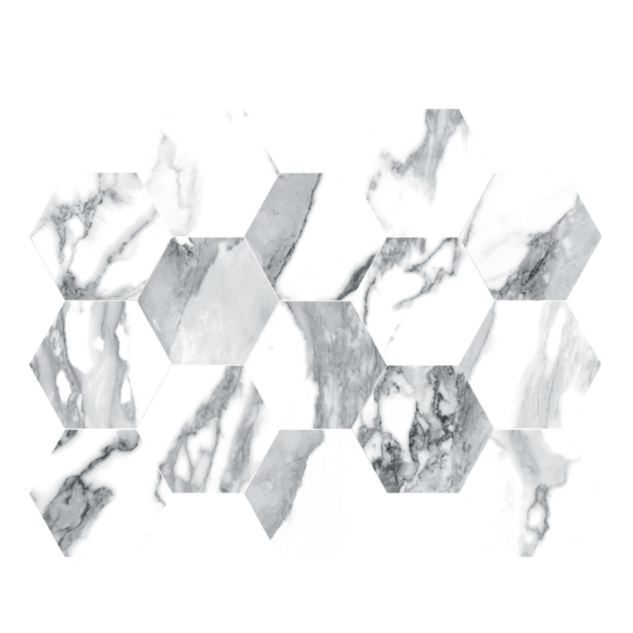 Blanco Crash HEXAGON MOSAIC (10 x 14 sheet)