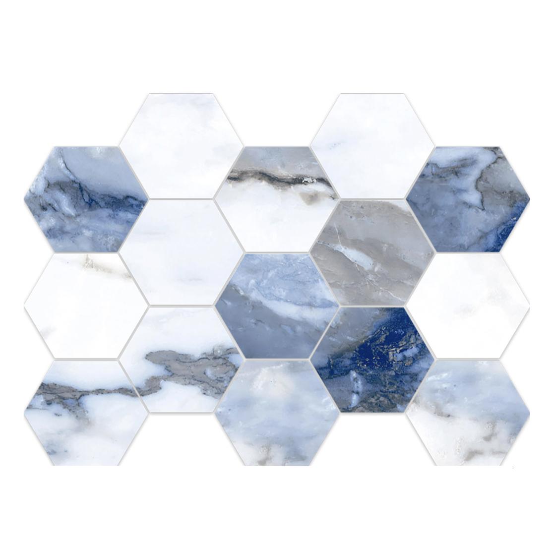Blue Crash HEXAGON MOSAIC (10 x 14 sheet)