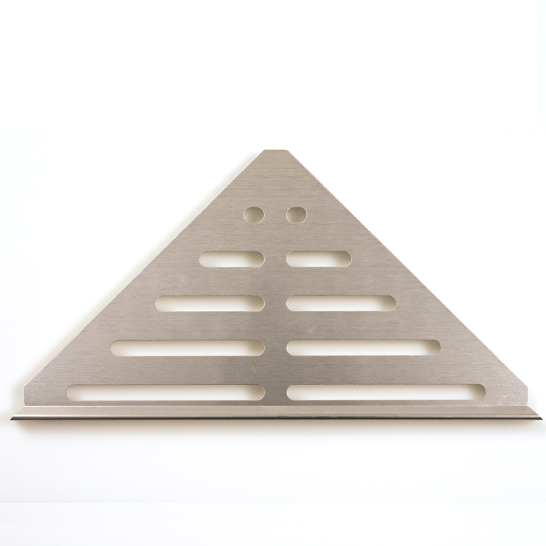 Brushed Nickel Metal Corner Shelf (Shower Corner Caddy)