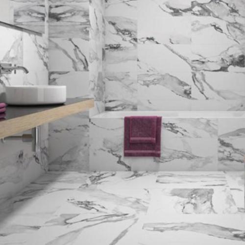 Crash Blanco Porcelain Tile Bathroom Natural