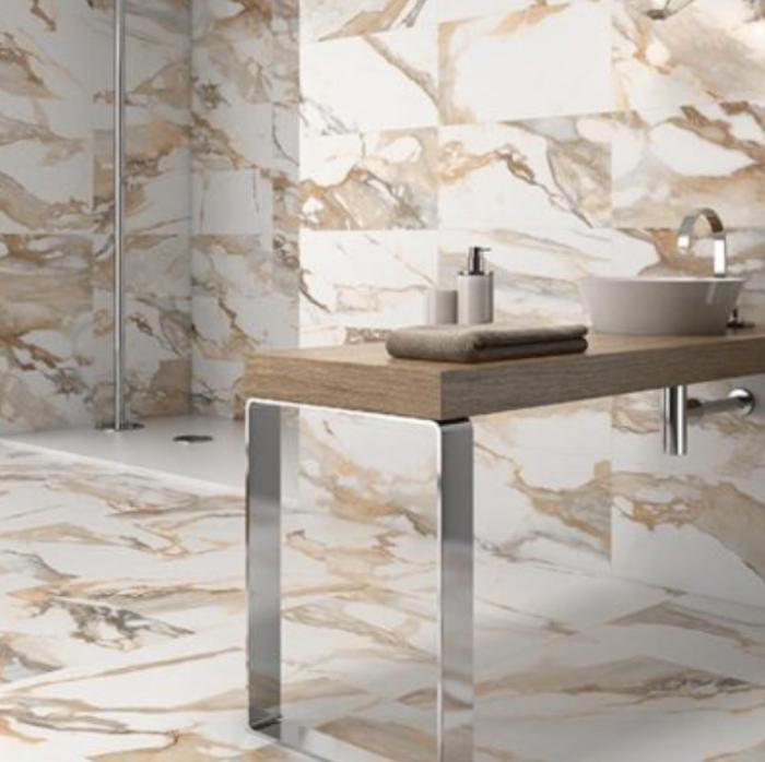 Crash Porcelain Floor and Wall Tile Collection Beige Polished