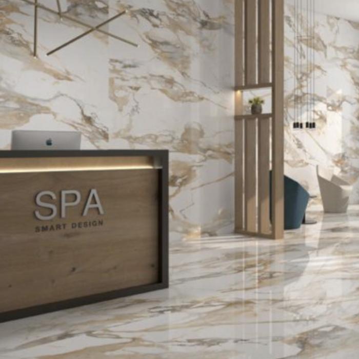 Crash Porcelain Floor and Wall Tile Collection Beige Polished SPA