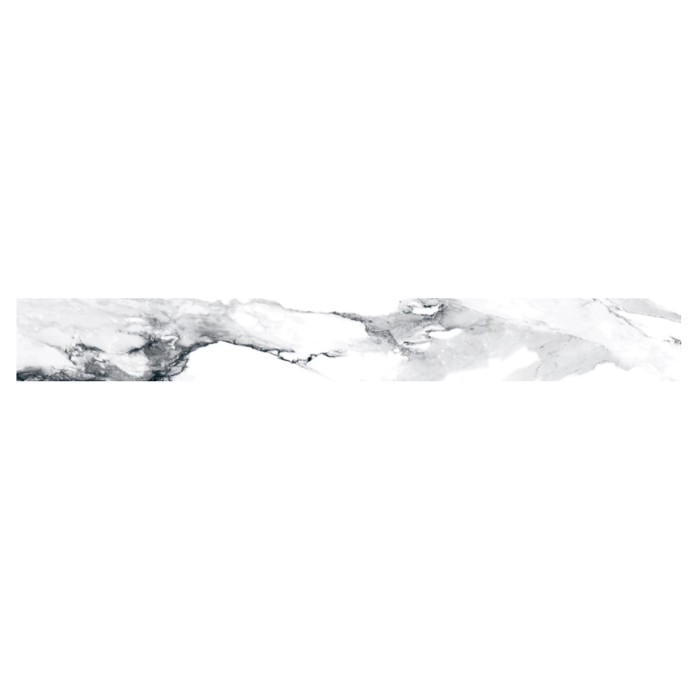 Happy Floors Crash Bullnose Blanco - 2x24 in.