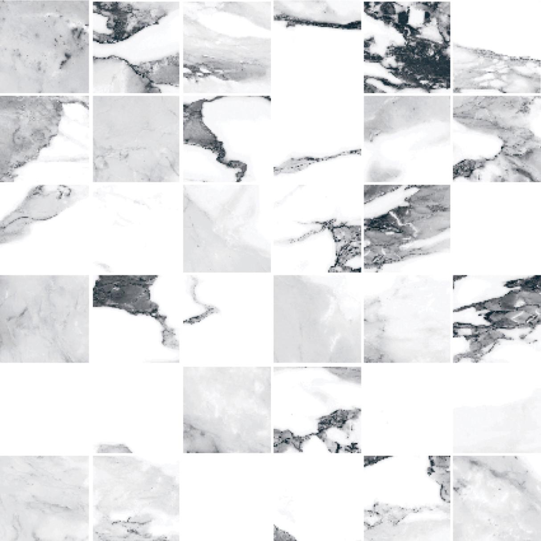 Happy Floors Crash Mosaic Blanco - 2x2 in.