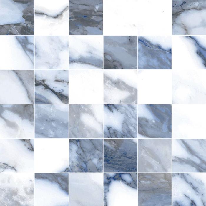 Happy Floors Crash Mosaic Blue - 2x2 in.