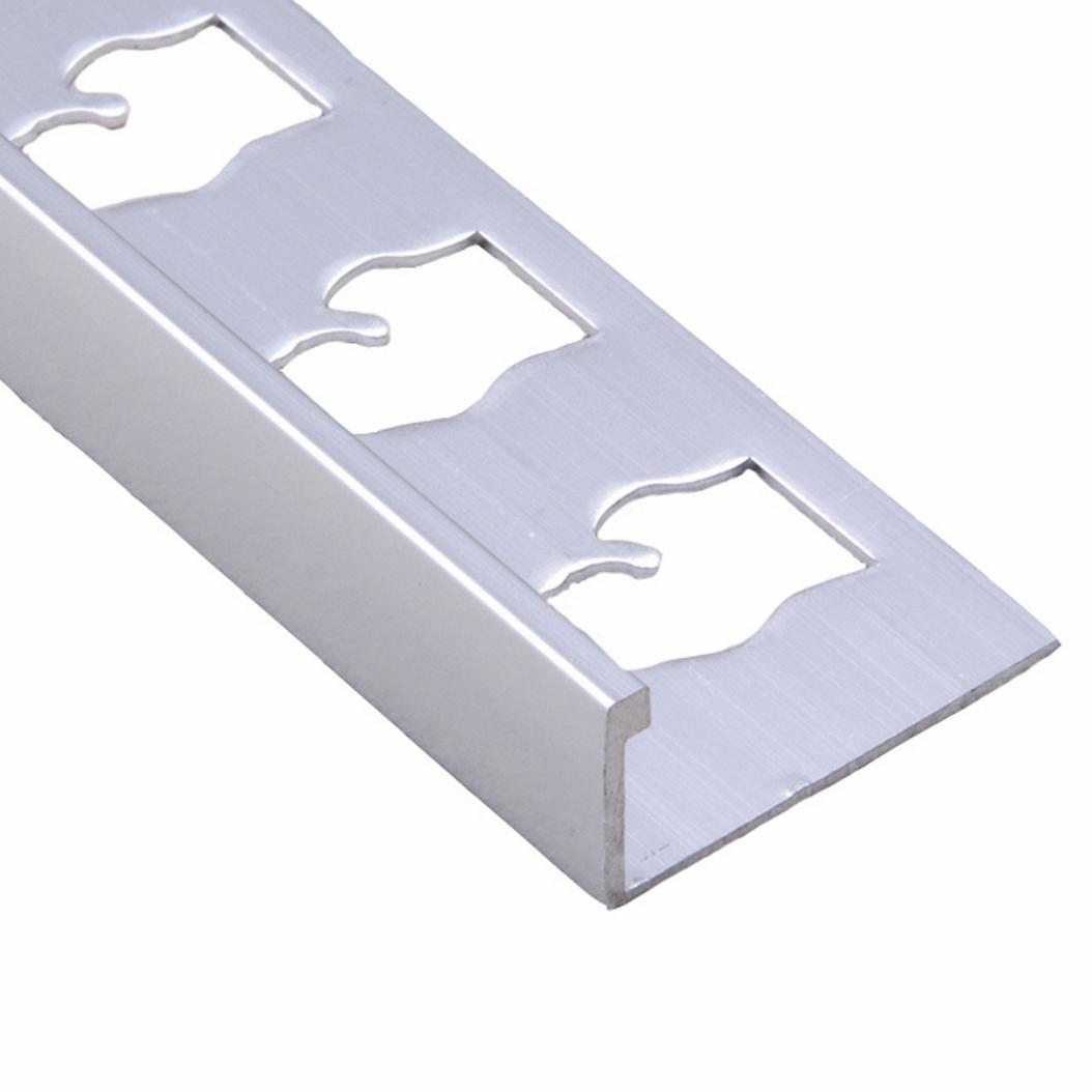 clear silver aluminum l channel trim
