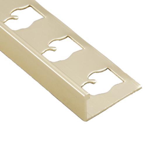 Gold bright l channel trim metal profile