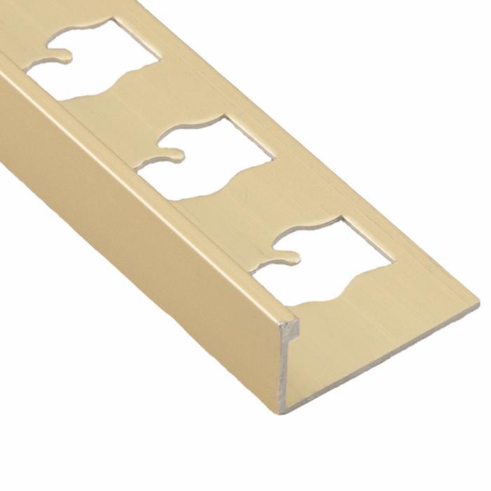 Satin Gold Metal Profile Trim L shape