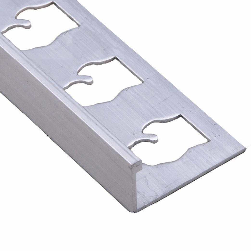 Mill Silver Aluminum Metal Trim L Shaped